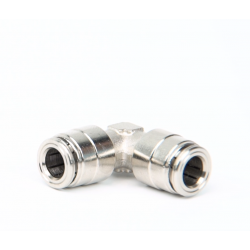 Racor rápido acoplamiento tubos, codo, de latón niquelado - Imagen 1