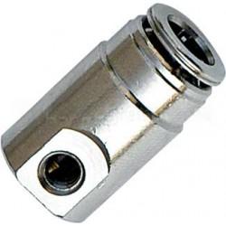 Racor rápido acoplamiento tubos, final de línea, de latón niquelado - Imagen 1